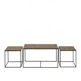 Notre Monde Trinity Tortoise Rectangle Nesting Coffee Table Set