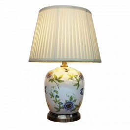 Pair of Oriental Table Lamps - Passion Flower
