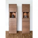 Skovby Walnut Display Cabinet #914 (lifestyle)
