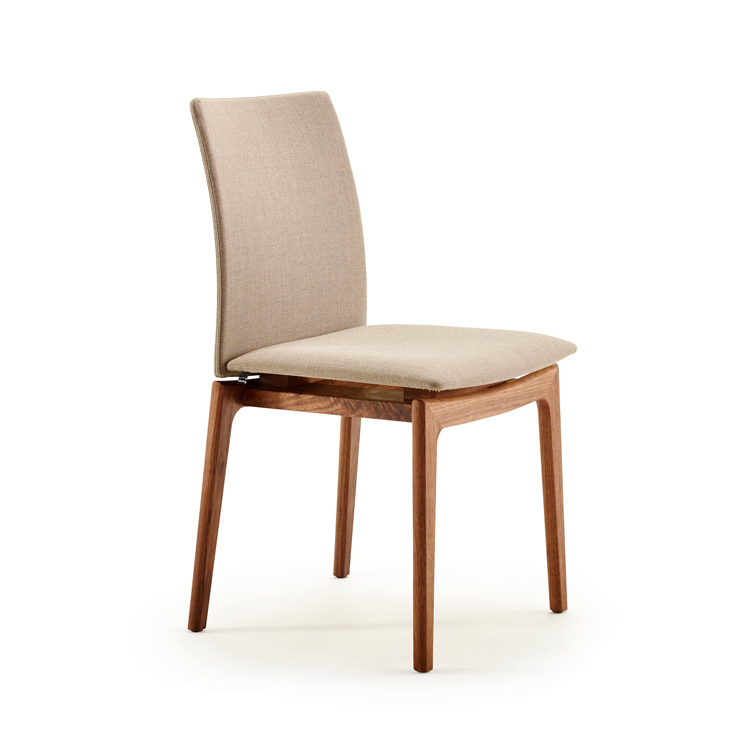 Stylish contemporary dining skovby upholstered dining for Upholstered dining chairs