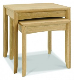 Copy of Bergen Washed Oak & Soft Grey Nesting Tables