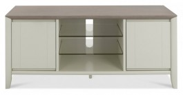 Bergen Washed Oak & Soft Grey Media Unit