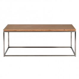 Ethnicraft Oak And Steel Coffee Table