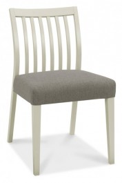 Bergen Pair of Grey Washed Low Back Dining Chairs
