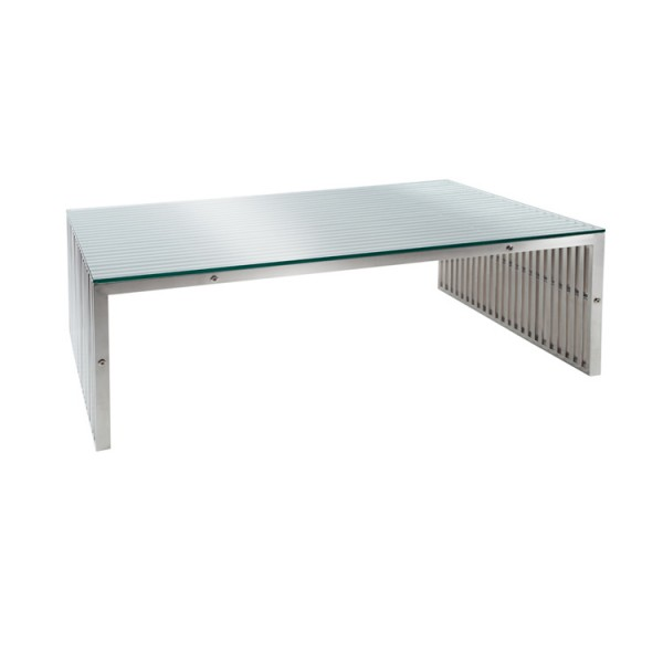 Contemporary glass furniture contemporary steel glass for Coffee tables quick delivery