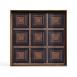 Notre Monde Ink Squares Glass Tray