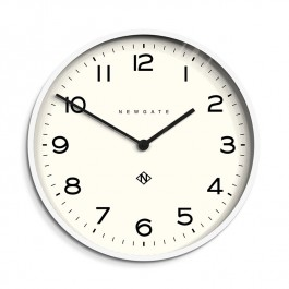 Newgate Wall Clock Echo Number One White