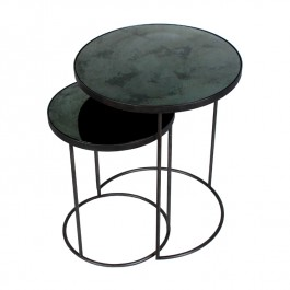 Round Nesting Side Table Charcoal