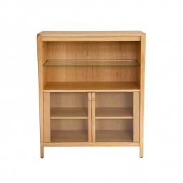 Oak Low Glazed Display Kennedy