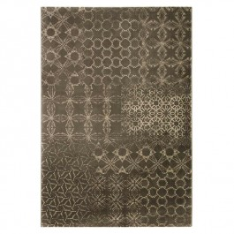 Grey Light Print Rug - Hamptons