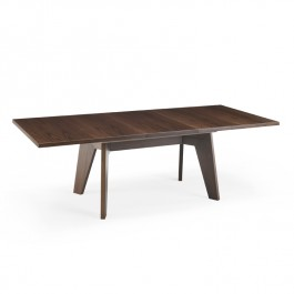 Skovby Walnut Extending Dining Table #13 (1 leaf extended)