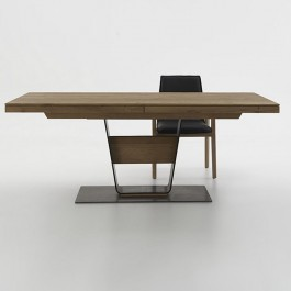 Hartmann Steel Pillar Extending Dining Table