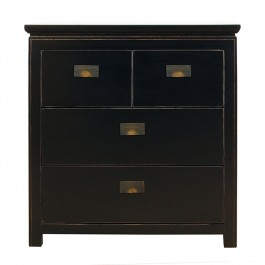 Chinese Black Lacquer Chest of 4