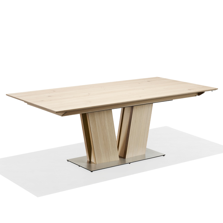 skovby white oiled oak extending dining table sm 39 - Contemporary Oak Dining Table