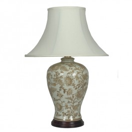 Pair of Oriental Table Lamps Peony