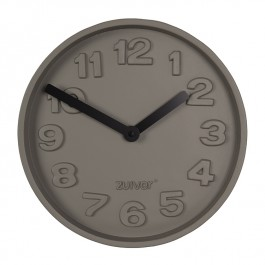 Wall Clock Concrete Time Black
