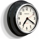 Cookhouse Vintage Black Metal Wall Clock (side view)