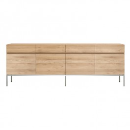 Ethnicraft Oak 4 Door Ligna Sideboard