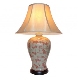 Pair of Oriental Table Lamps - Goldfish