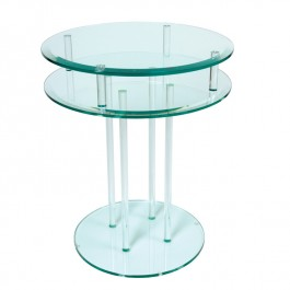 Glass Occasional Table - Double