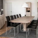 Skovby White Oiled Oak Extending Dining Table #39 (extended, lifestyle)