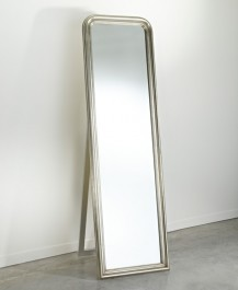 Contemporary Full Length Mirror Silver