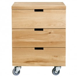 Ethnicraft Oak Desk Drawer Unit Billy