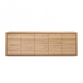 Ethnicraft Oak Sideboard Shadow 5 Door
