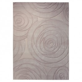 Grey Patterned Rug - Carving Art