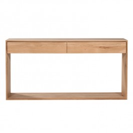 Ethnicraft Solid Oak Console Table Nordic