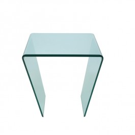 Glass Lamp Table - Curvo
