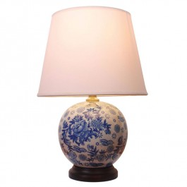 Pair of Oriental Table Lamps Round