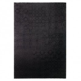 Black Print Rug - Hamptons