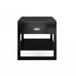 Black Lacquer Bedside Table Beijing
