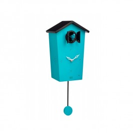 Modern Cuckoo Clock Teal Wooden