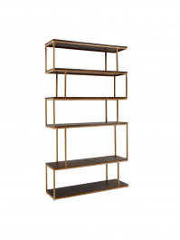 Conran Balance Tall Bookcase Wood/Brass
