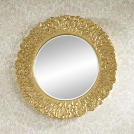 Contemporary Mirror - Flora Gold