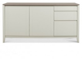Bergen Washed Oak & Soft Grey Wide Sideboard