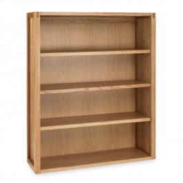 Wide Oak Bookcase - Studio