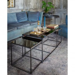 Notre Monde Rectangle Charcoal Trinity Nesting Coffee Table Set
