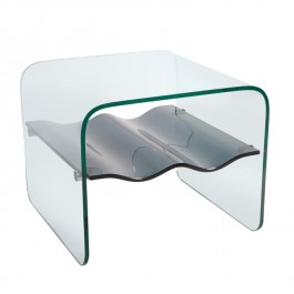 Glass Side Table - Ripple