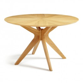 Serene Oak Round Dining Table Bexely