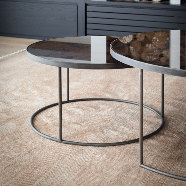 Bronze Nesting Coffee Tables: Round Nesting Coffee Table Bronze