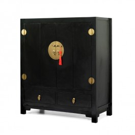 Chinese Black Lacquer TV Cabinet