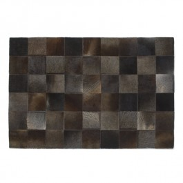 Leather Hide Rug - Chocolate Squares