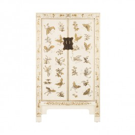 Chinese Butterfly Cabinet - White