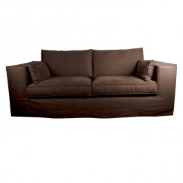 Chocolate Single Stitch Comfort Sofa
