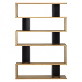 Conran Counter Balance Tall Bookcase Oak & Charcoal