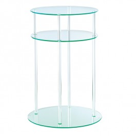 Round Glass Table - Cylinder