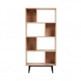 Conran Groove Limed Oak & Black Tall Shelving